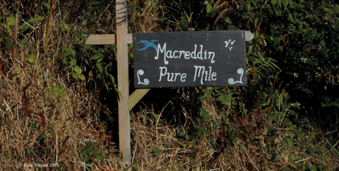 Pure Mile Sign